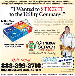 Dr. Energy Saver Central Maryland Coupon!